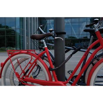 Fahrradschloss Kettenschloss 900 L 90 cm schwarz