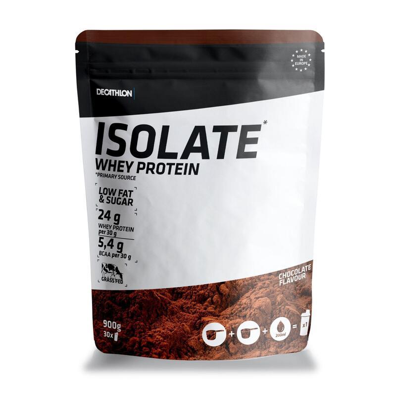 PROTEINA WHEY ISOLATE 24g de suero de leche sabor CHOCOLATE 900 g