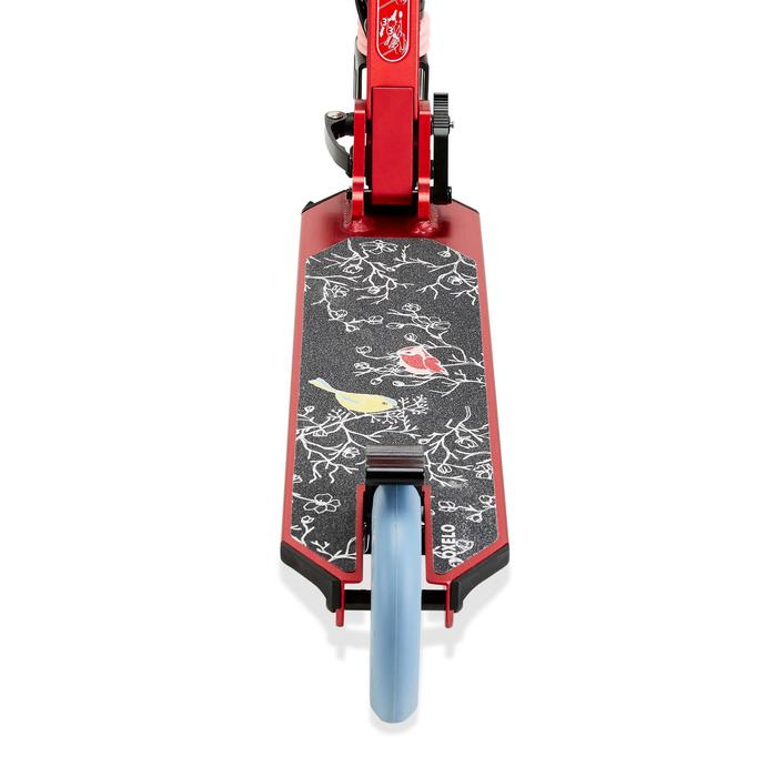 Kinderstep Mid 5 met rem aan het stuur en vering print vogels