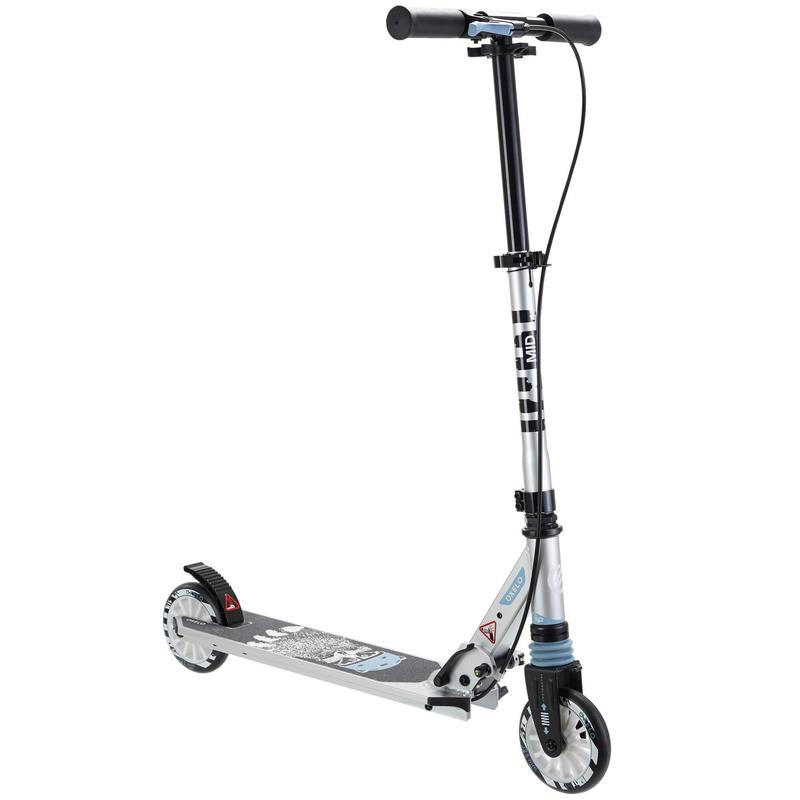 Mid 5 Kids' Scooter With Handlebar Brake And Suspension - Raccoon
