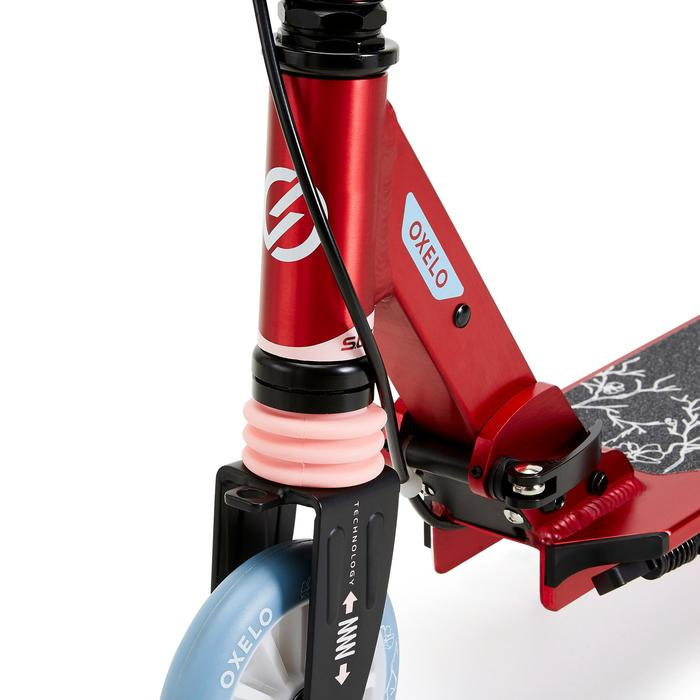 Kids' Scooter With Handlebar Brake And Suspension Mid 5 - Birds