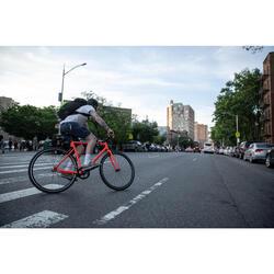 City Bike 28 Zoll Elops Speed 500 Singlespeed/Fixie neonorange