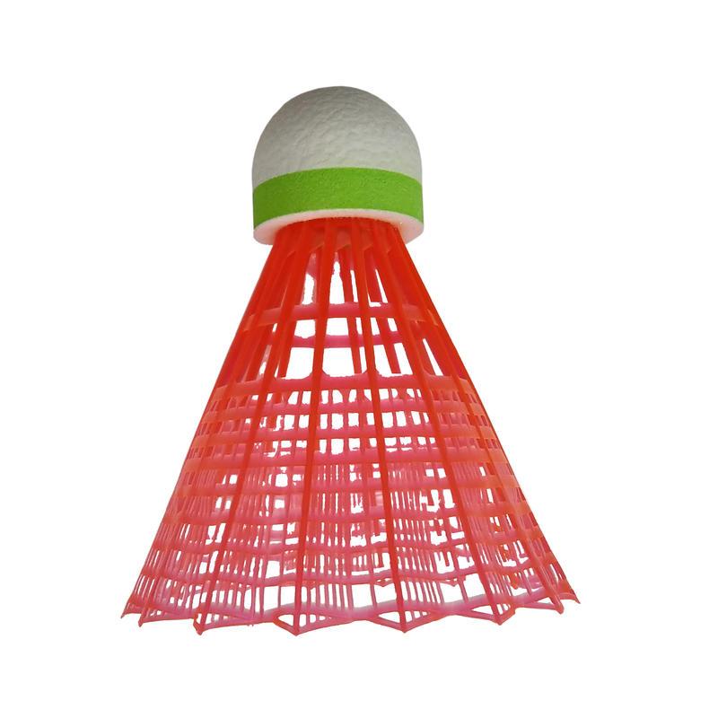 PLASTIC SHUTTLECOCK PSC 100 Medium 3-Pack - WH/YE/OR