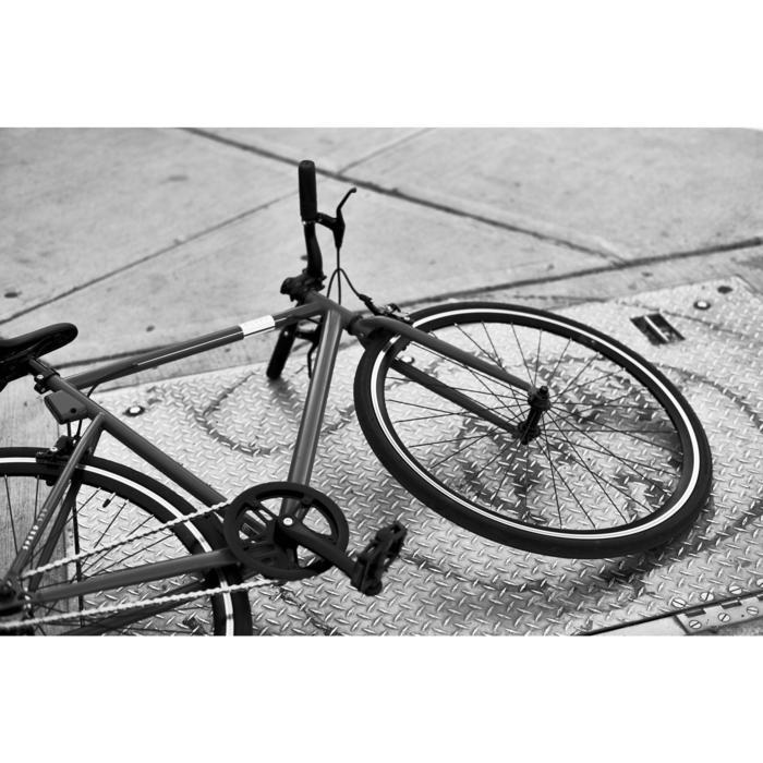 City Bike 28 Zoll Elops Speed 500 Singlespeed/Fixie blau