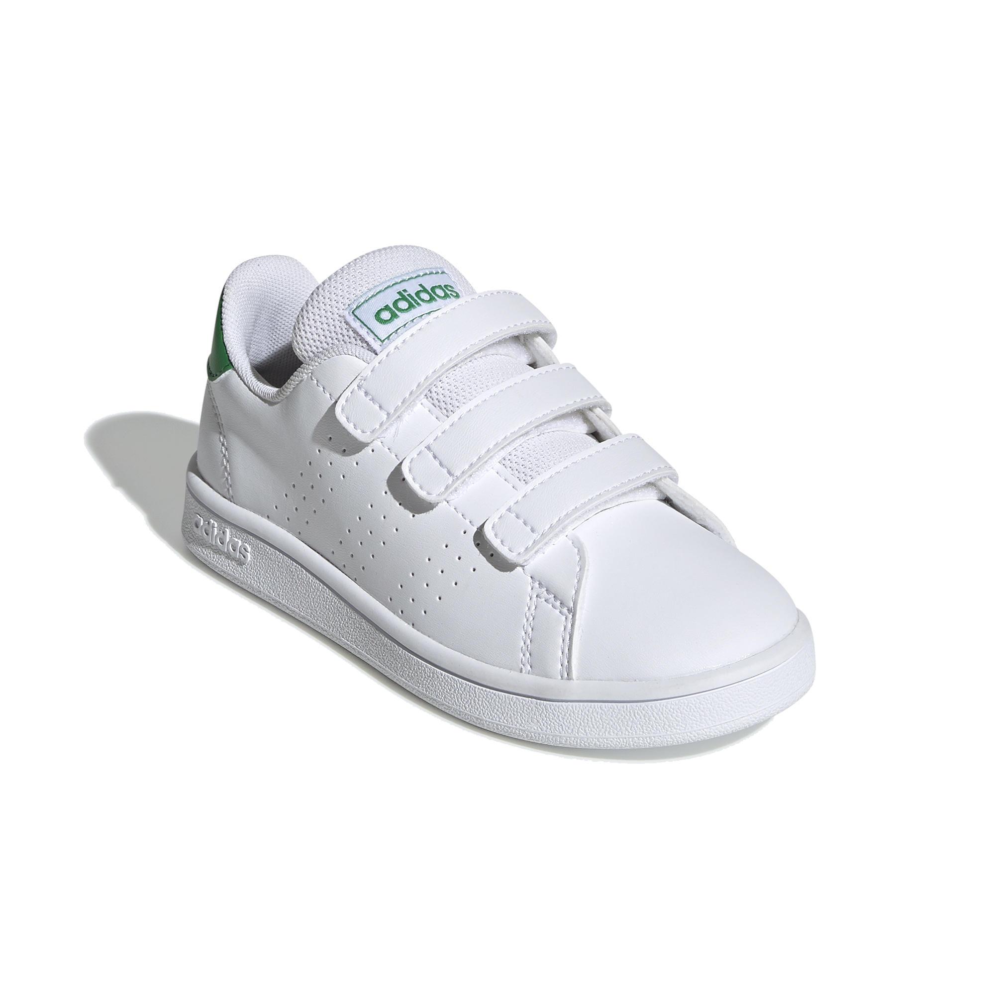 Scarpe tennis bambino adidas ADVANTAGE CLEAN bianco-verde