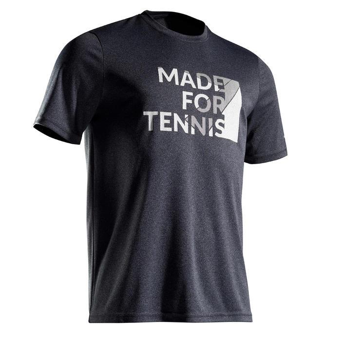 T-Shirt Soft 100 Tennisshirt Herren grau meliert
