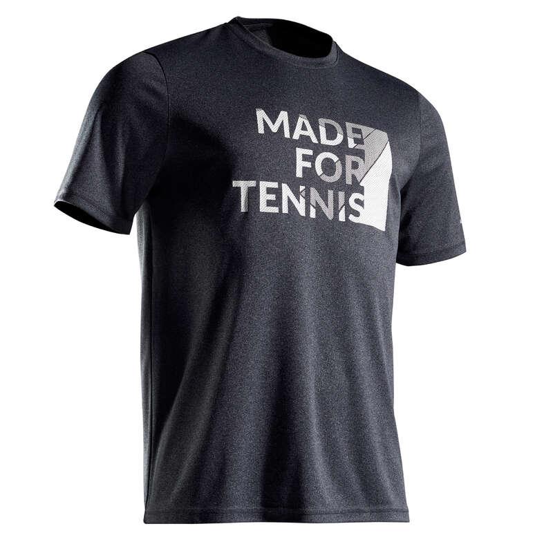 MEN WARM CONDITION RACKET SP APAREL Squash - Soft 100 T-Shirt- Mottled Grey ARTENGO - Squash Clothing