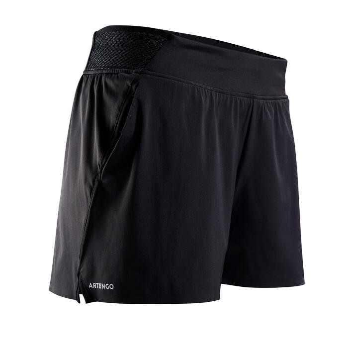 Tennisshorts SH Light 900 Damen schwarz
