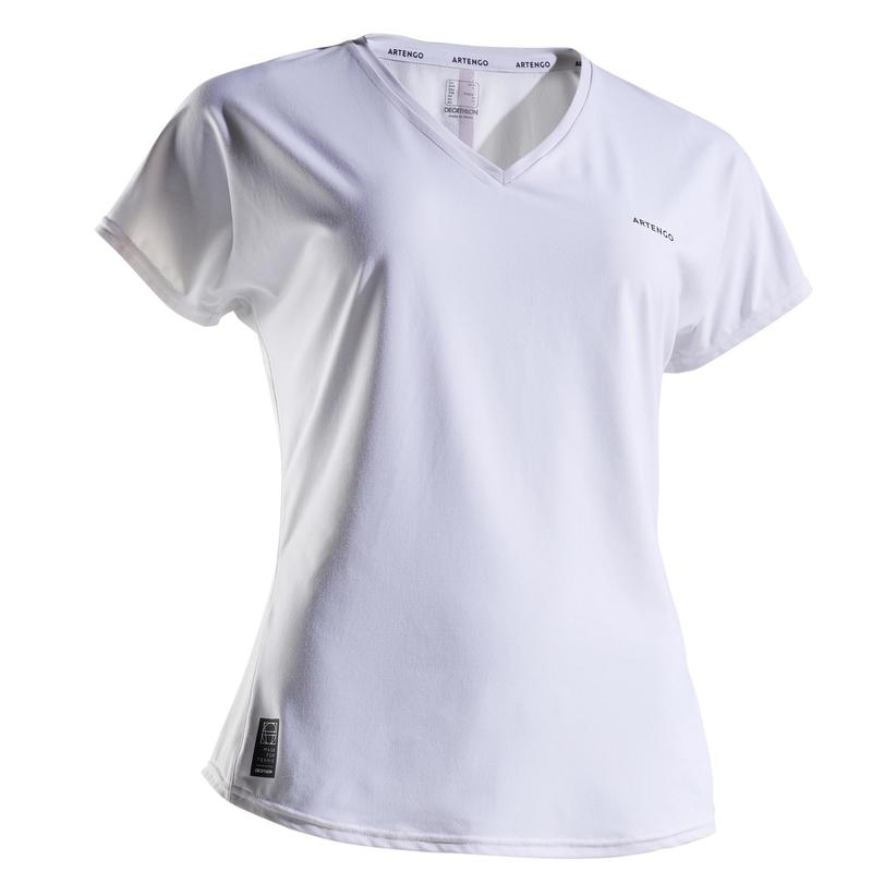 Tennis-T-shirt voor dames TS Soft 500 wit
