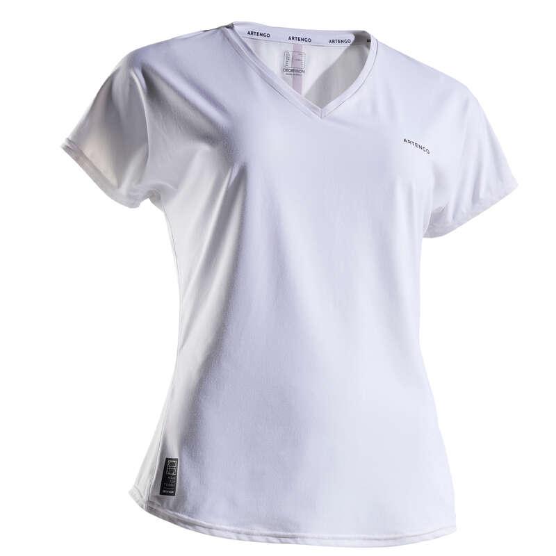 ABBIGLIAMENTO TUTTE LE STAGIONI DONNA Sport di racchetta - T-shirt donna SOFT 500 bianca ARTENGO - PADEL