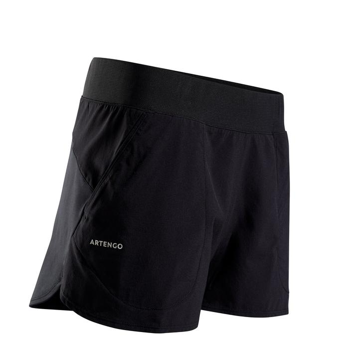 Tennis-Shorts SH Soft 500 Damen schwarz