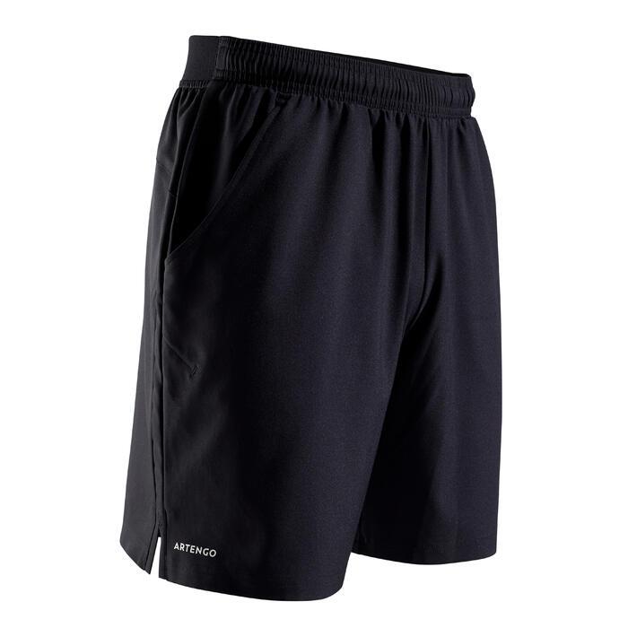 Tennisshort voor heren Dry 500 zwart