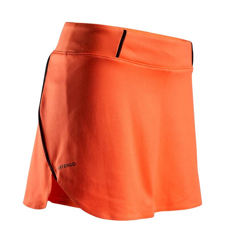 WOMEN WARM CONDITION RACKET SP APAREL Squash - SK Light 990 Skirt - Orange ARTENGO - Squash