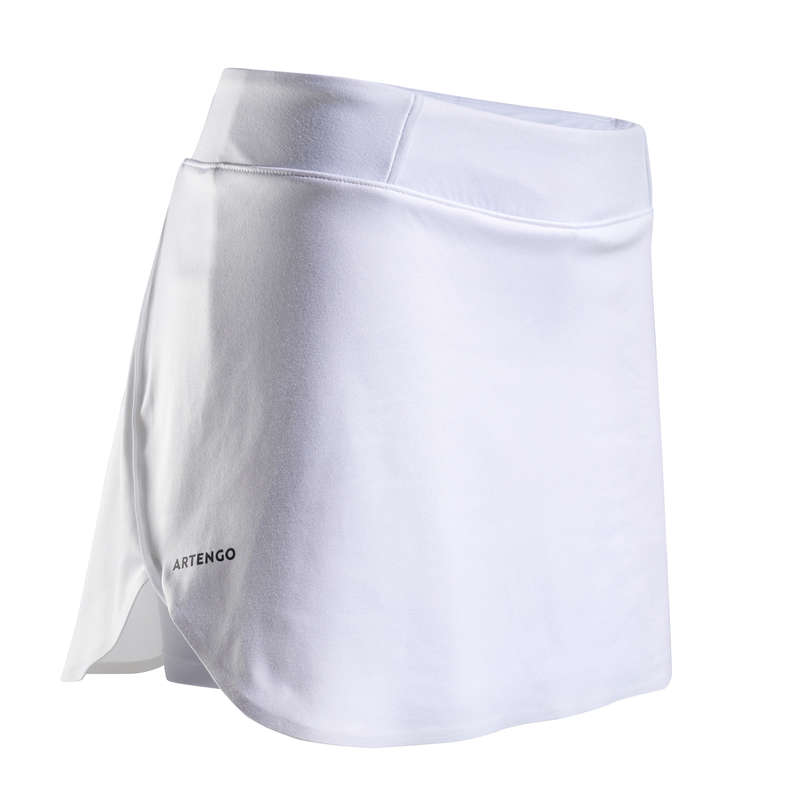 WOMEN WARM CONDITION RACKET SP APAREL Squash - SK Light 990 Skirt - White ARTENGO - Squash
