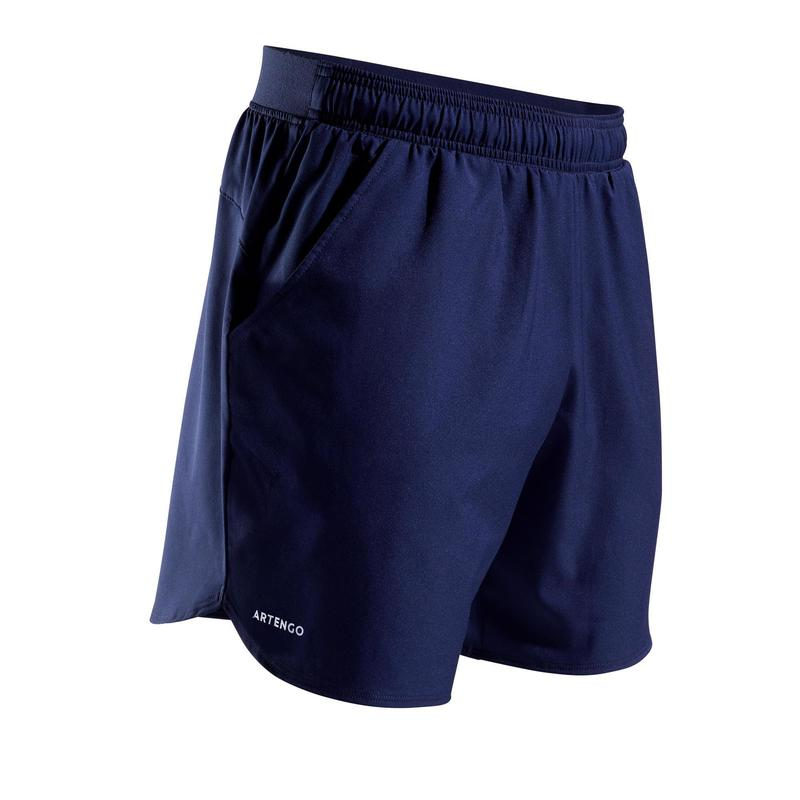 Pantalón Corto de Tenis Artengo TSH 500 Dry Court Hombre Azul Marino