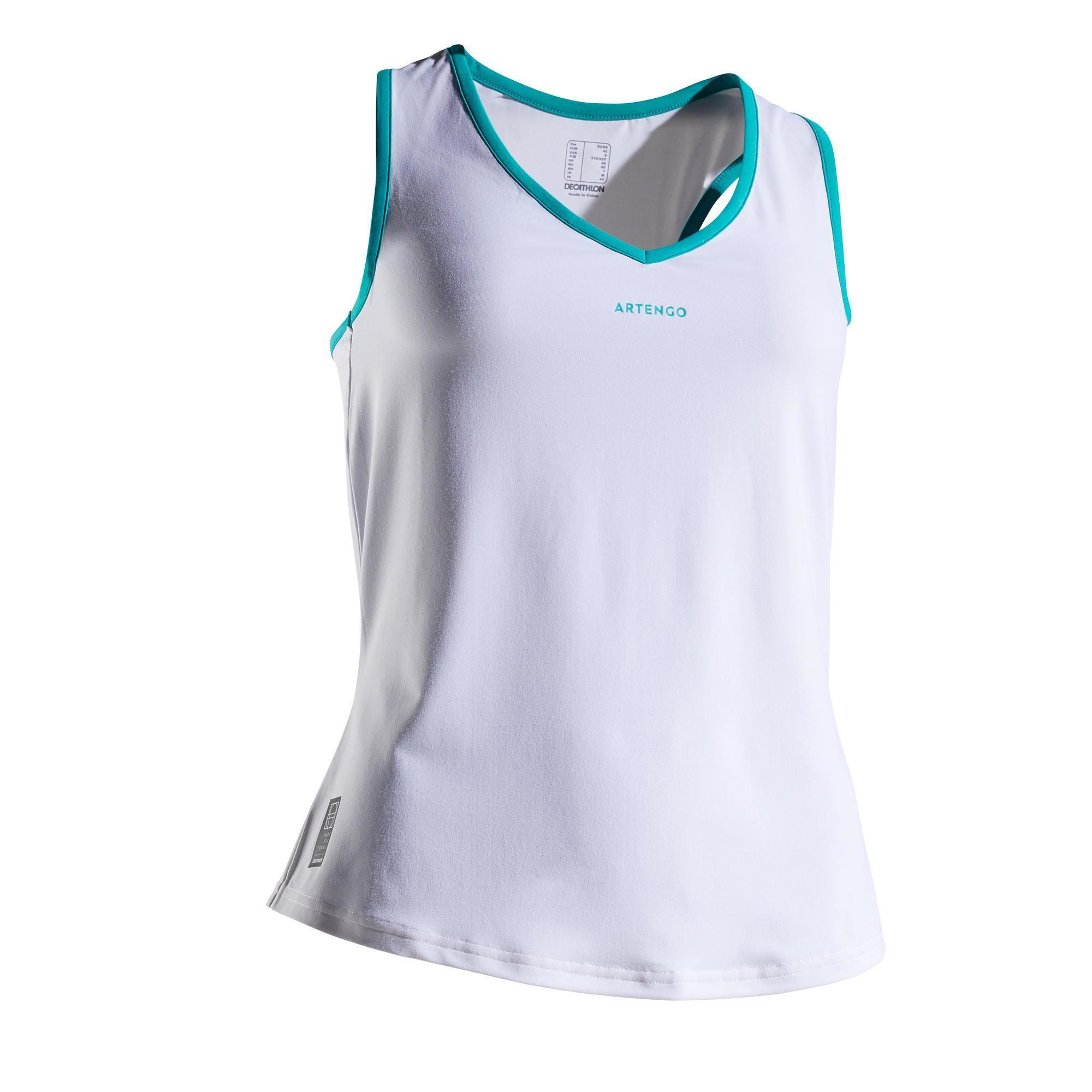 Tennis-Top TK Light 900 Damen weiß | Sportbekleidung > Sporttops > Tennistops | Artengo