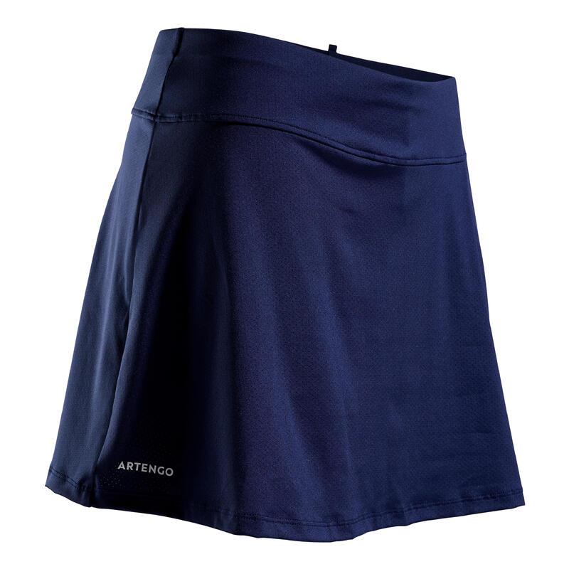 Tennisrok voor dames SK Soft 500 marineblauw