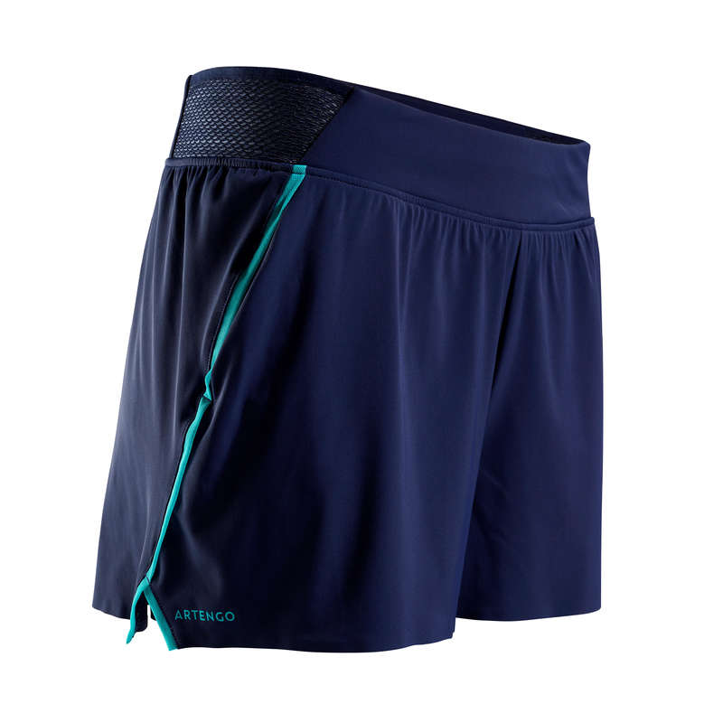 WOMEN WARM CONDITION RACKET SP APAREL Squash - SH Light 900 Shorts - Navy ARTENGO - Squash Clothing