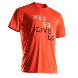 Tennisshirt heren Soft 100 oranje