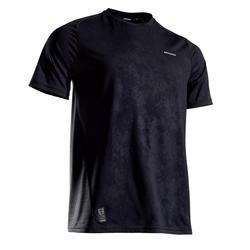 CAMISETA DE TENIS HOMBRE camiseta corta DRY 500 NEGRO