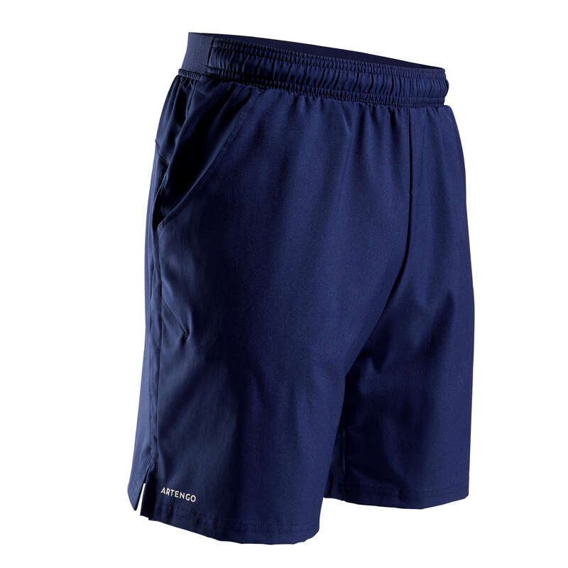 MEN WARM CONDITION RACKET SP APAREL Squash - TSH 500 Dry Shorts - Navy ARTENGO - Squash Clothing