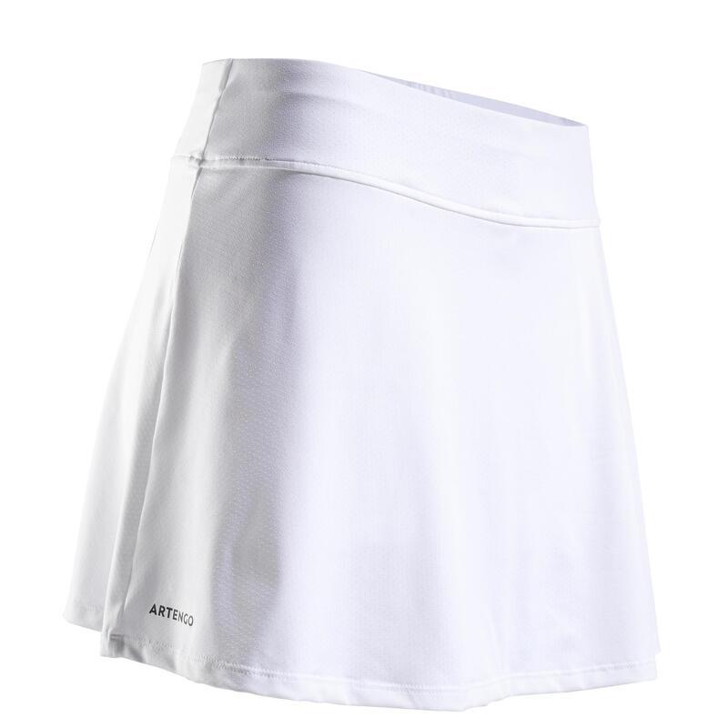 Falda de Tenis SK Soft 500 Mujer Blanco