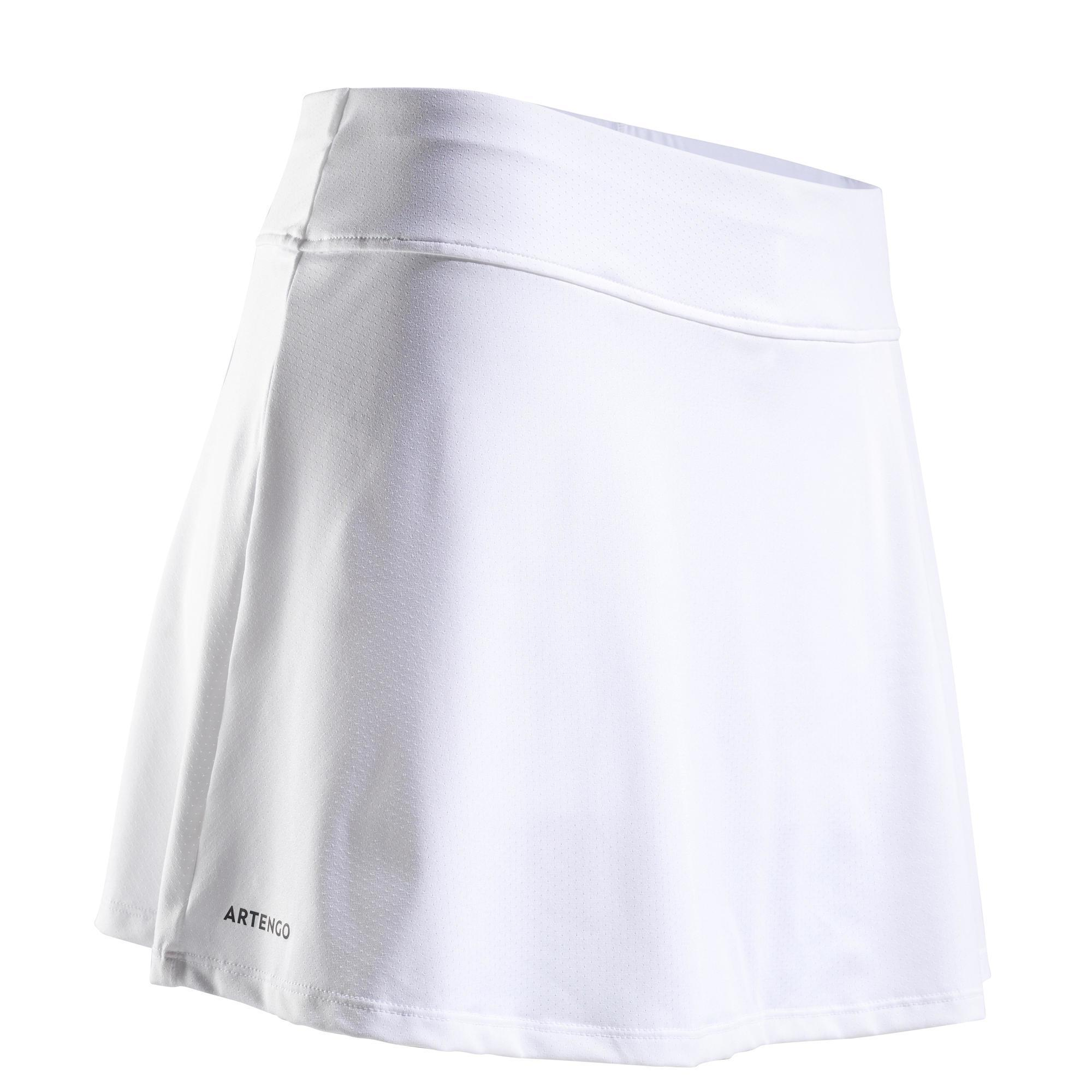 Jupe de tennis femme sk soft 500 blanche artengo
