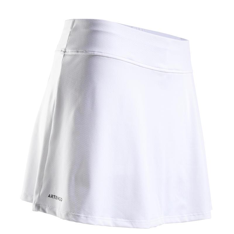 Women's Tennis Skirt SK Soft 500 - White