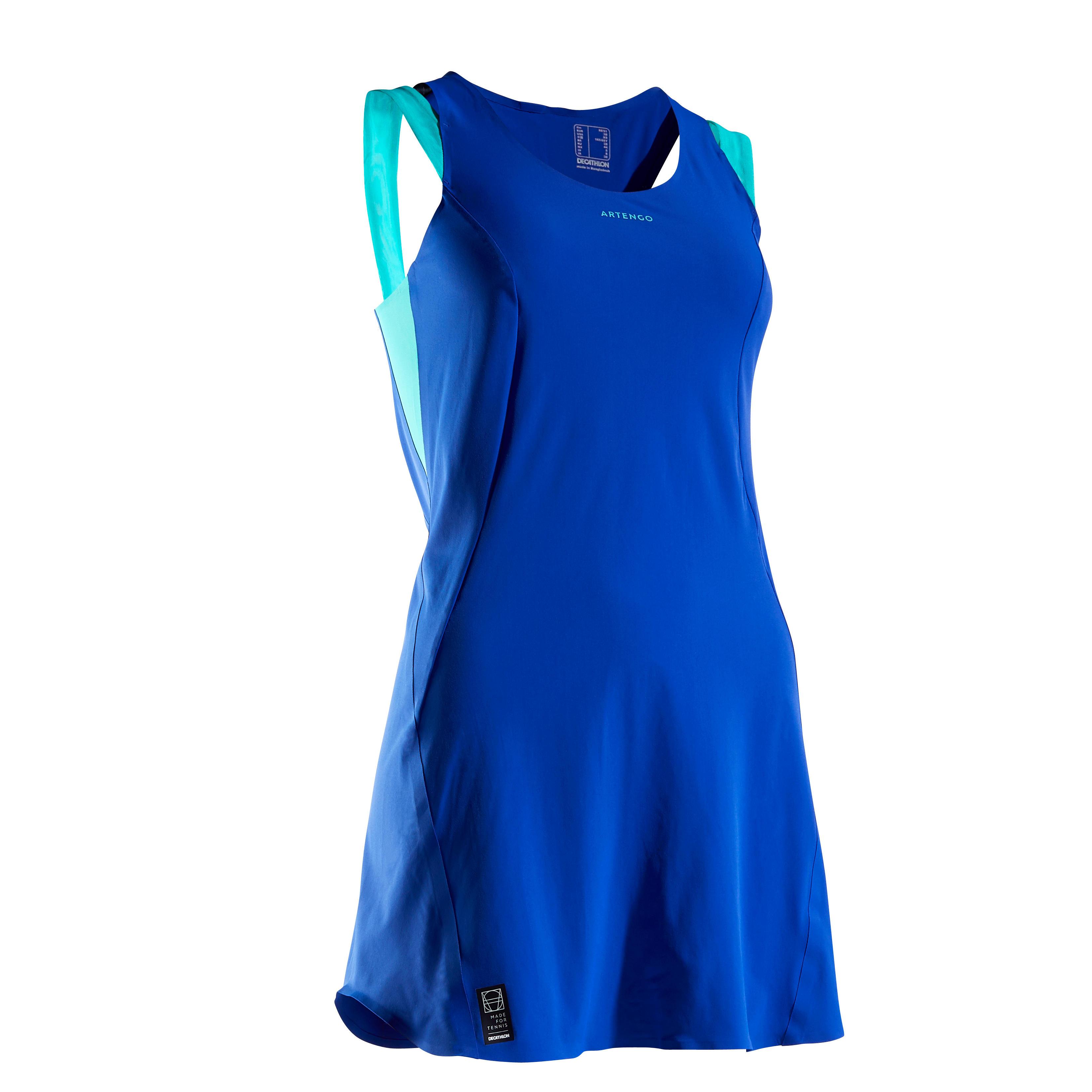 Tenniskleid DR Light 990 blau | Sportbekleidung > Sportröcke | Artengo