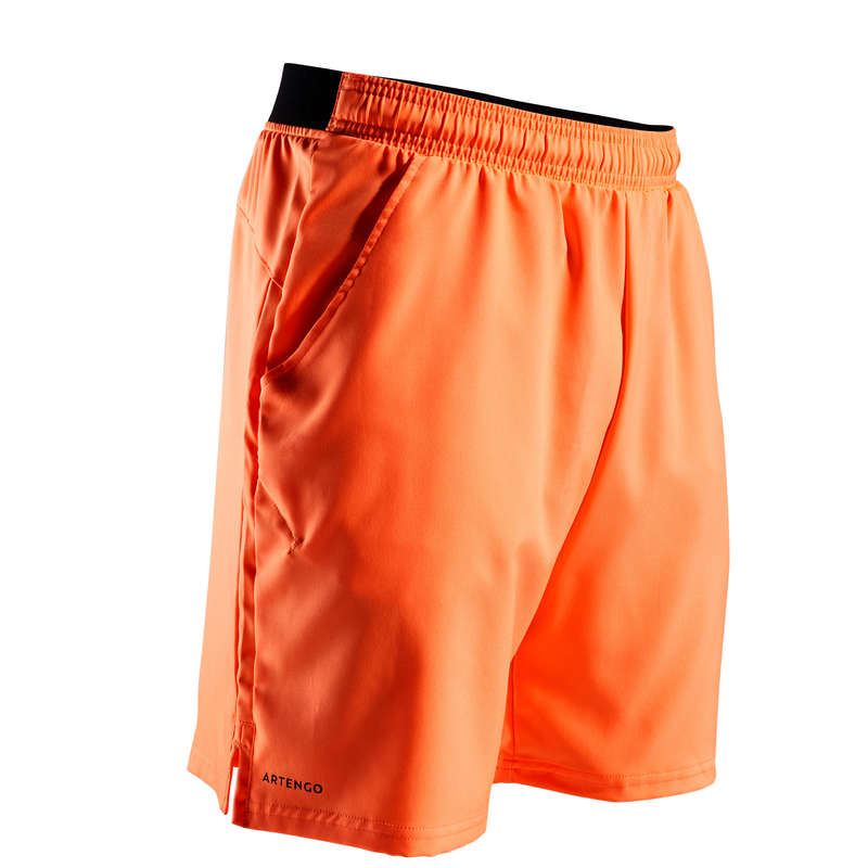 MEN WARM CONDITION RACKET SP APAREL Tennis - Dry 500 Shorts - Coral ARTENGO - Tennis Clothes