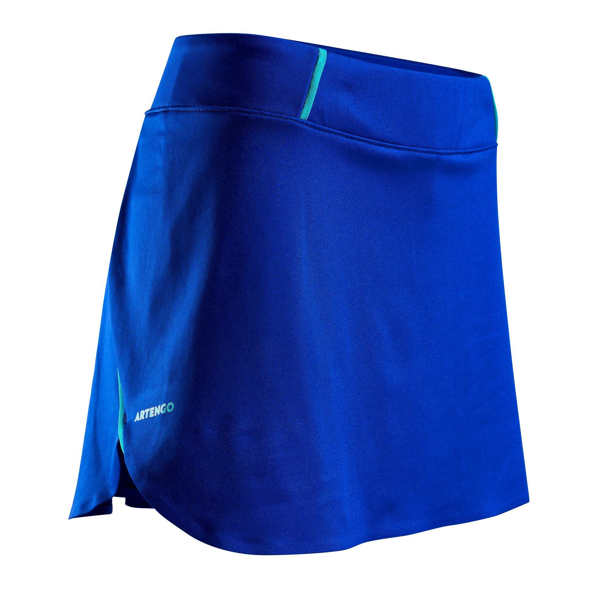 Tennisrock SK Light 990 Damen blau | Sportbekleidung > Sportröcke > Tennisröcke | Blau - Grün - Türkis | Artengo