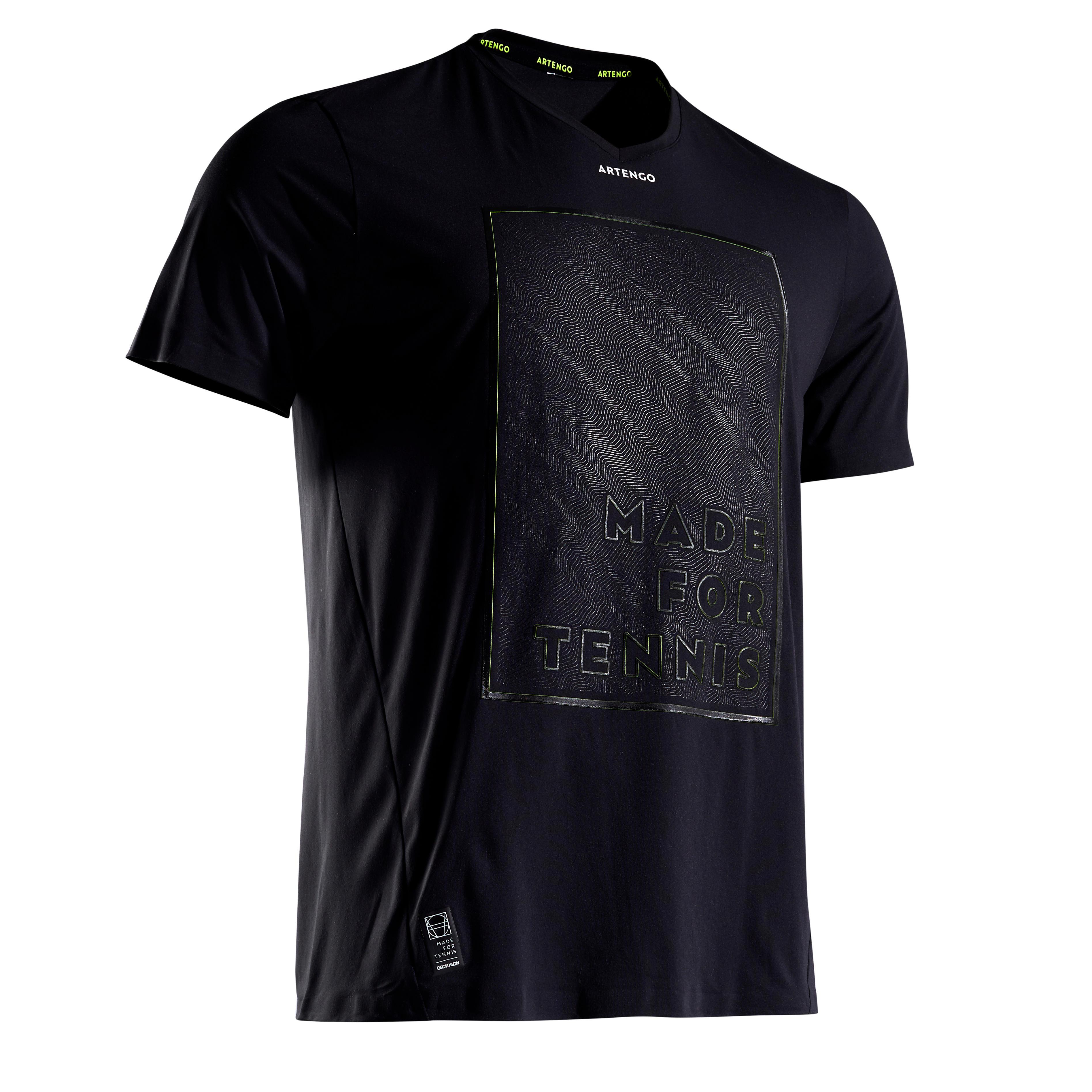 Tennisshirt 900 Herren Light 900 schwarz/gelb | Sportbekleidung > Sportshirts > Tennisshirts | Artengo