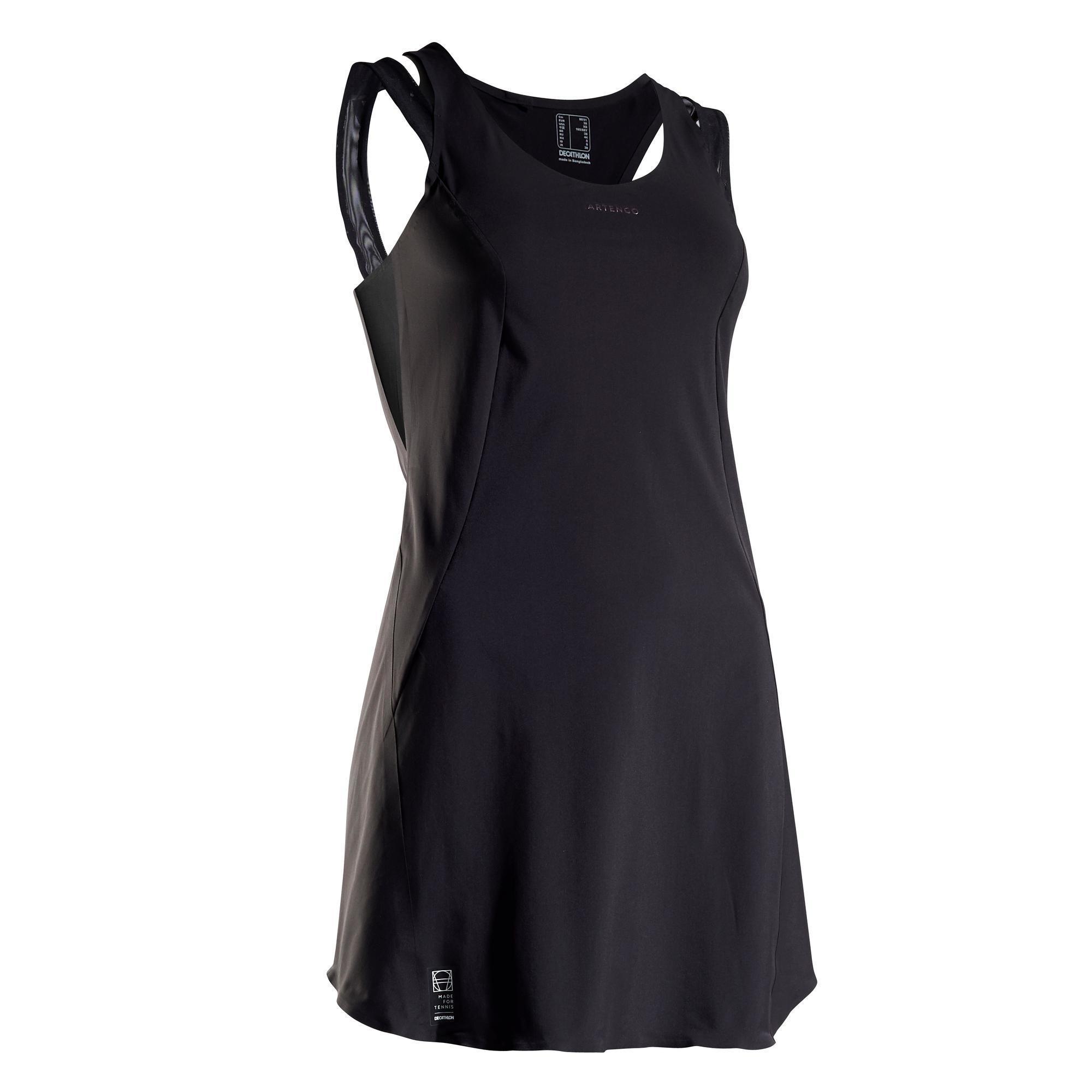 Tenniskleid DR Light 990 schwarz | Sportbekleidung > Sportröcke | Artengo