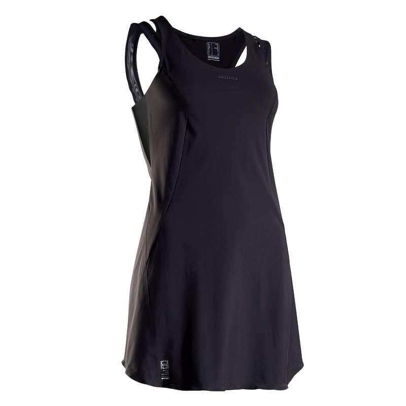 ABBIGLIAMENTO TUTTE LE STAGIONI DONNA Sport di racchetta - Vestito donna LIGHT 990 nero ARTENGO - Abbigliamento tennis