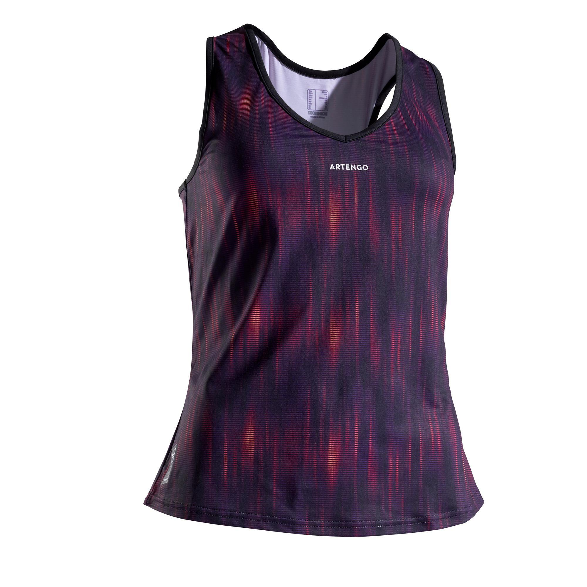 Tennis-Top TK Light 900 Damen violett/orange | Sportbekleidung > Sporttops > Tennistops | Orange - Rosa - Violett | Artengo