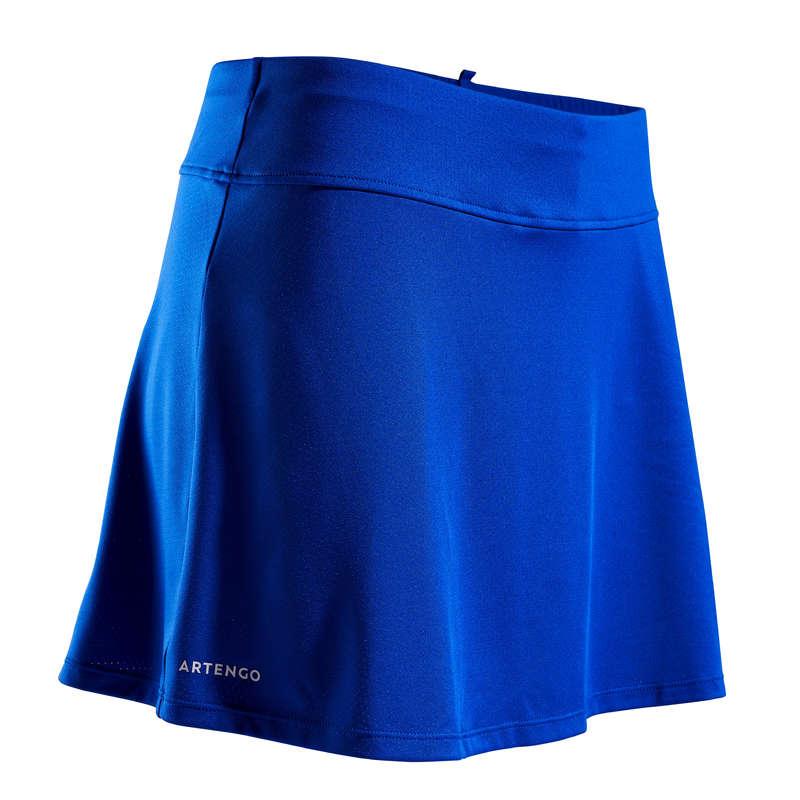 WOMEN WARM CONDITION RACKET SP APAREL Squash - SK Soft 500 Skirt - Blue ARTENGO - Squash