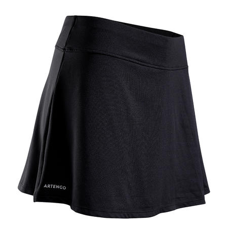 Women's Tennis Skirt SK Soft 500 - Black