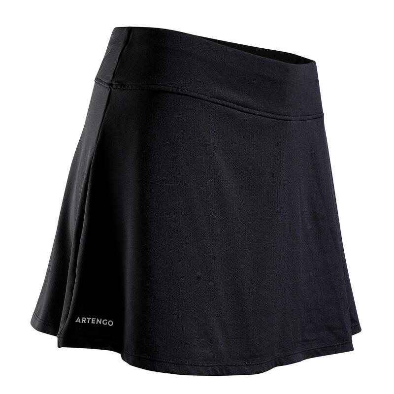 Women's Tennis Skirt SK Soft 500 - Black