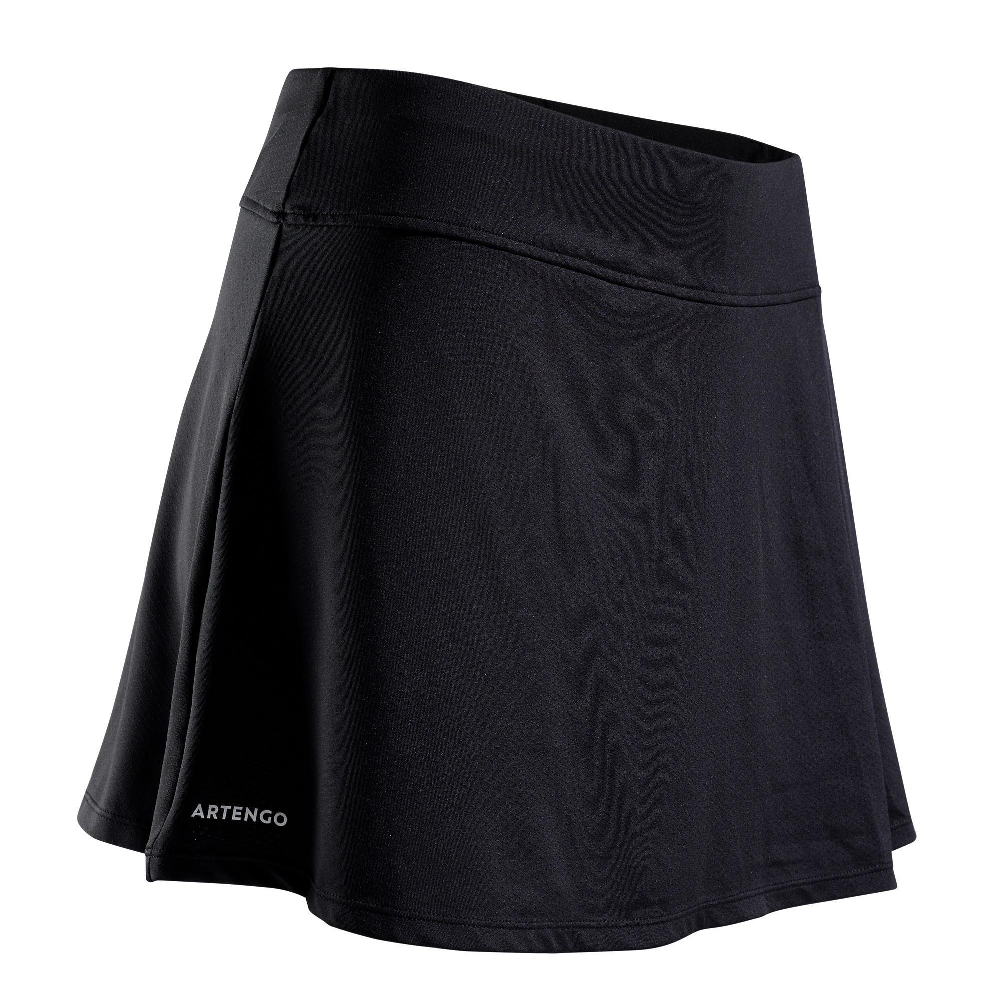 Tennisrock SK Soft 500 Damen schwarz | Sportbekleidung > Sportröcke | Artengo