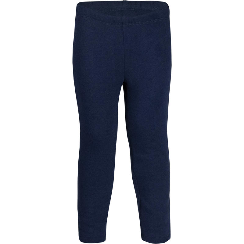 Pantalón 100 Cálido Gimnasia Infantil azul marino