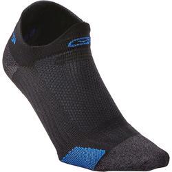 Laufsocken dünn invisible Kiprun schwarz/blau