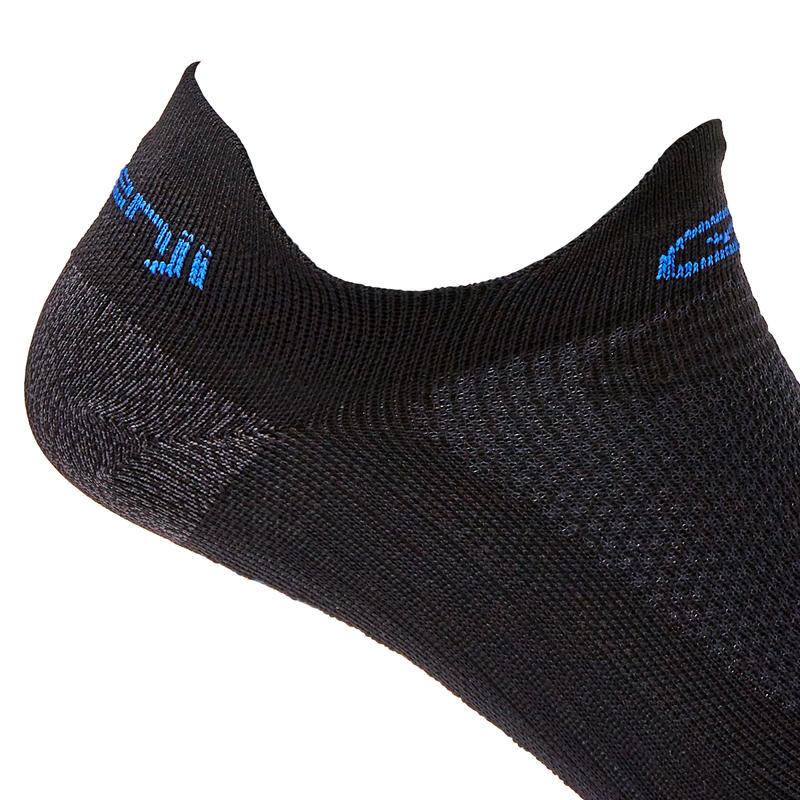 RUNNING INVISIBLE FINE SOCKS KIPRUN - BLACK/BLUE