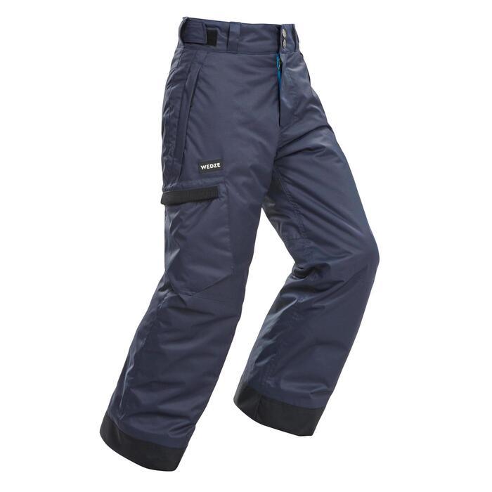 男童單/雙板滑雪長褲SNB PA 500 - 深灰色