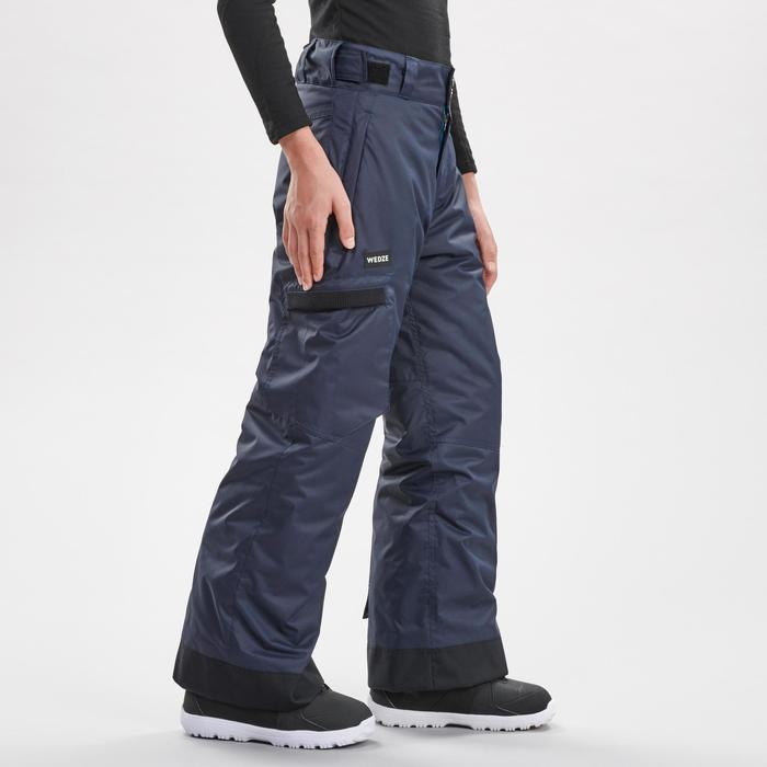 Pantalon de snowboard et ski SNB PA 500 garçon gris foncé