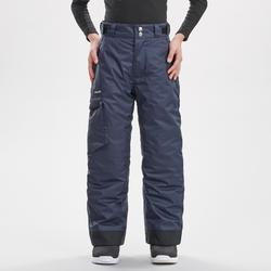 Boys' Skiing and Snowboarding Trousers SNB PA 500 - Dark Blue