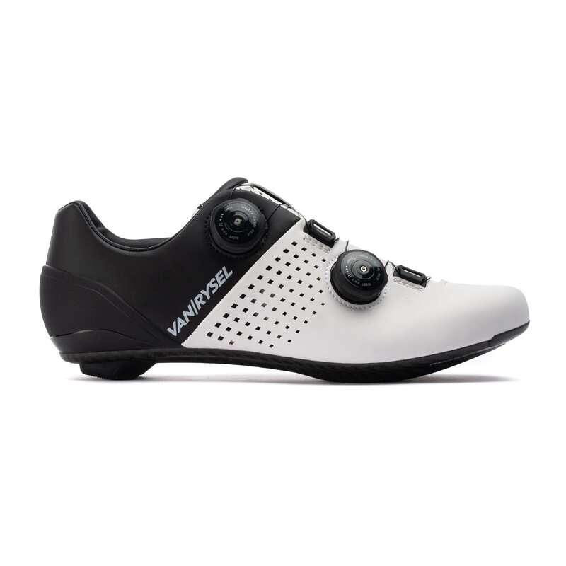 ROADR BIKE SHOES Cycling - RR 900 CARBON ROAD CYCLING SHOES - WHITE VAN RYSEL - Cycling