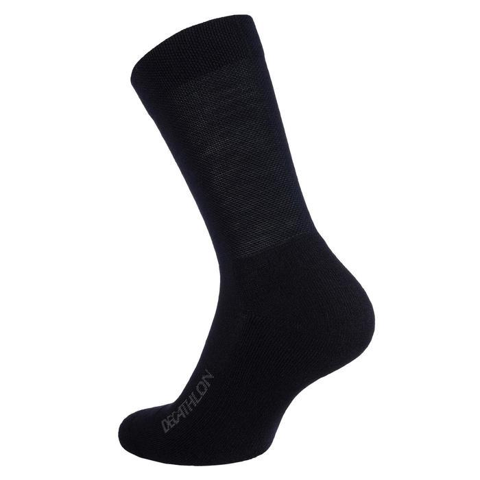 Fietssokken voor de winter 900 zwart/grijs