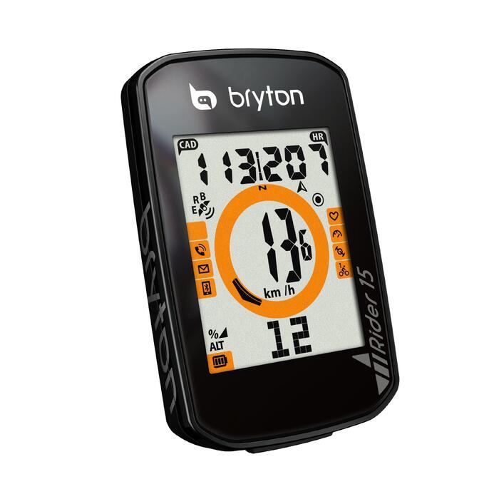 Fietscomputer met gps Bryton Rider 15