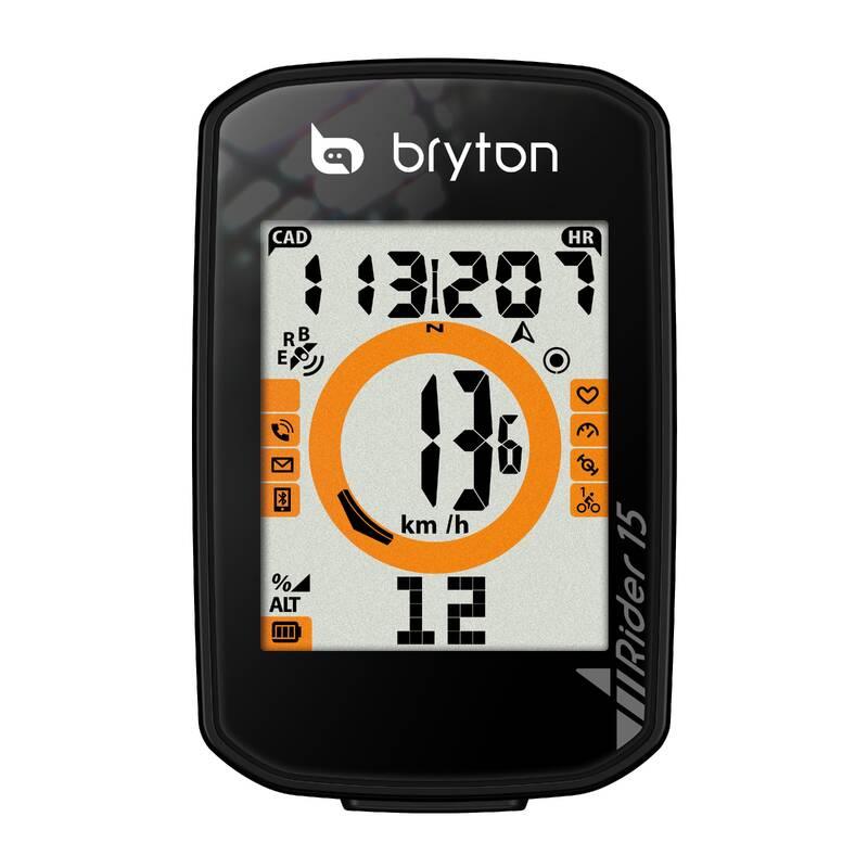 CYKLO TACHOMĚRY Cyklistika - CYKLOPOČÍTAČ GPS RIDER 15 BRYTON - Příslušenství na kolo