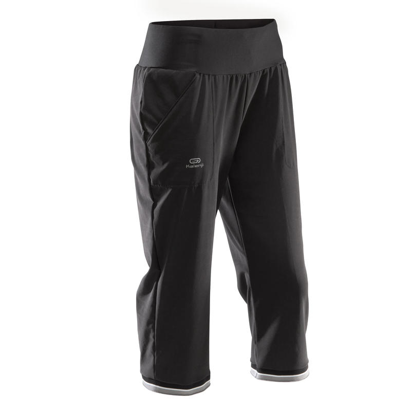 Run Dry Women's Running Cropped Trousers - Black